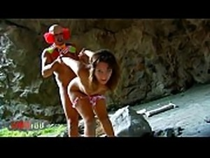 Innocent young Charlotte brutal anal fucking by a crazy clown