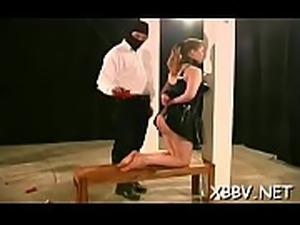 Complete amateur bdsm act along big meatballs woman
