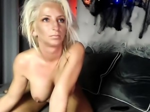Solo masturbation with blonde babe