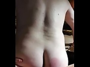 Drunk hubby takes his pegging like a champ!