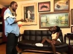 Dazzling ebony teen seduces a black guy to satisfy her needs