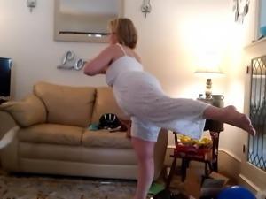 Mom is doing Yoga