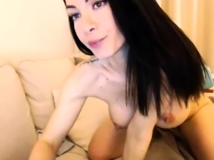 Using her big boobs to jerk off a horny dude