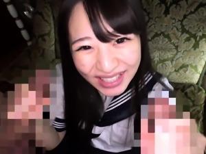 Sex toys and fingering for japanese slit