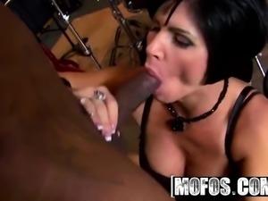 Hot milf Shay Fox likes rap and Big black cock
