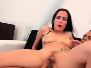 Slut eating cock for piss gets ass drilled