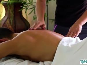 Client Gabriel bangs New Masseuse Toris ass
