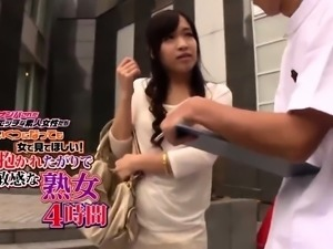 Pretty Asian girl with small boobs cums hard on a stiff cock