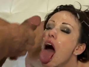 Massive Bukkake Facial Jennifer -Rubin-