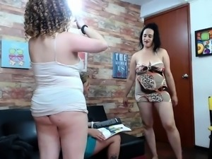 These fat lesbian bitches are fucking huge Brunette Natalia