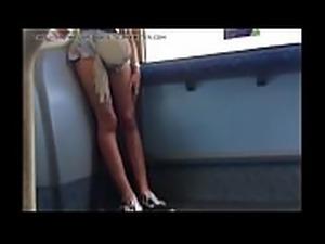 Teen Legs on Bus