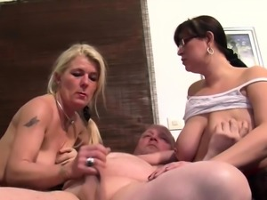 One Bloke Shags With Two Horny Bbws