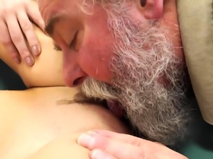 Old Goes Young - Talented cutie rides old dick in cowgirl