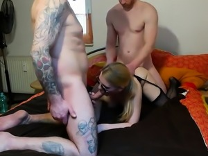 Amateur Italian Threesome In Stockings