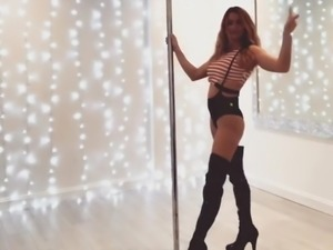 #3 Milf Marie poledance in sexy outfit and high heels