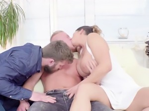 Chloe D and Christian shares Nicos cock