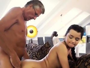 Teen old and daddy ties partner' playfellow's daughter