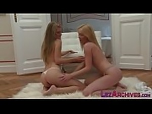 Lesbian blonde licked