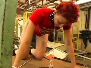Servitude action with a lad who gets tortured by domina