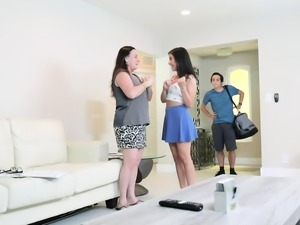 Natalie Brooks lets her stepbro rams her college pussy
