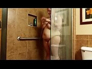 Bbw huge tit wife fucked in the shower  2