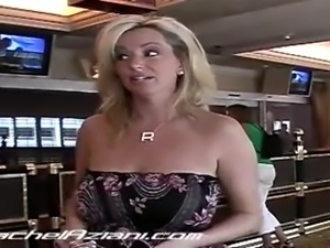Ra hot milf with big natural tits flashes around