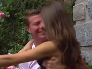 Romantic sexy slender girlfriend Tina Kay loves some hard doggy fuck