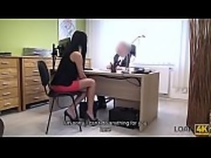 LOAN4K. Inga agrees for interesting naughty proposal of loan manager