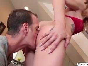 Horny chad diamond licks tgirl casey kisses juicy ass and fucks it so deep