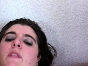 French BBW Anna takes 2 cocks