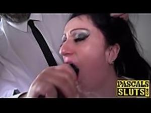 Dirty MILF Curvy Gal throated before rough doggystyle