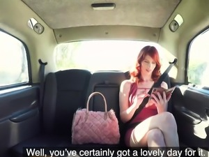 Fake Taxi Hairy redhead pussy gets fucked