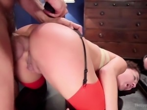 Wild whore Veronica Avluv is ready for some brutal anal drilling session
