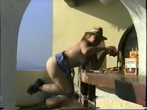 HusbanD Makes Me Expose Myself on Hotel Roof in Mexico