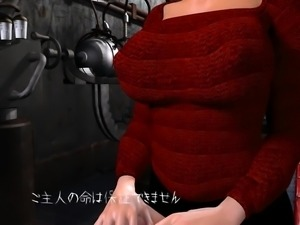 Big breasted 3D bombshell stuffs her pussy with hard meat