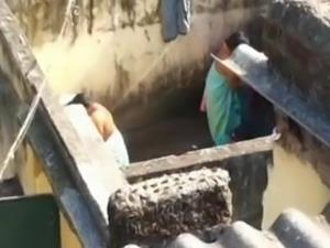 Spying on desi milfs in bathhouse