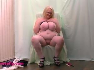 Granny has her big tits hot waxed