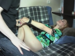 Gorgeous russian girlfriend pussy banged