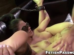 Innocent jasmine caro dominated with sex machine and big dic