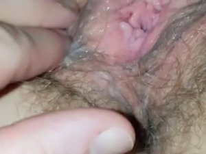 Wife&#039s pussy masturbation in close up