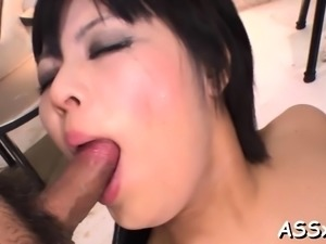 Lusty anal satisfying for large tits oriental honey