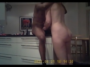 horny amateur mom fuck bbc at her kitchen
