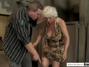 Norma fucks a fat dude