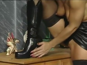 Sandy D with cock