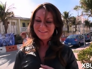 Topnotch maid Ana Diego with great natural tits blows pecker