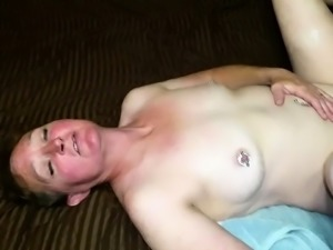 Slutty mature brunette wife gets used by interracial studs