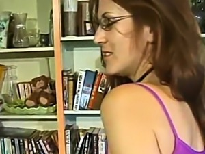 Sexy brunette wife uses a toy on her tight pussy