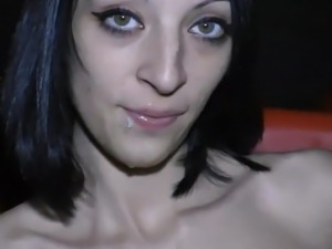 beautiful blackhaired facial 202