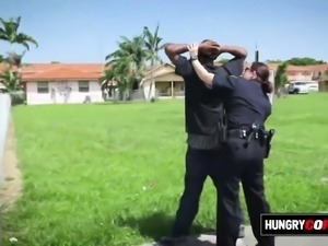 Suspect is taken by hungry milf cops