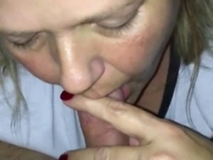 Stepmom blowjob